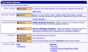 ULS Online Systems -- main page